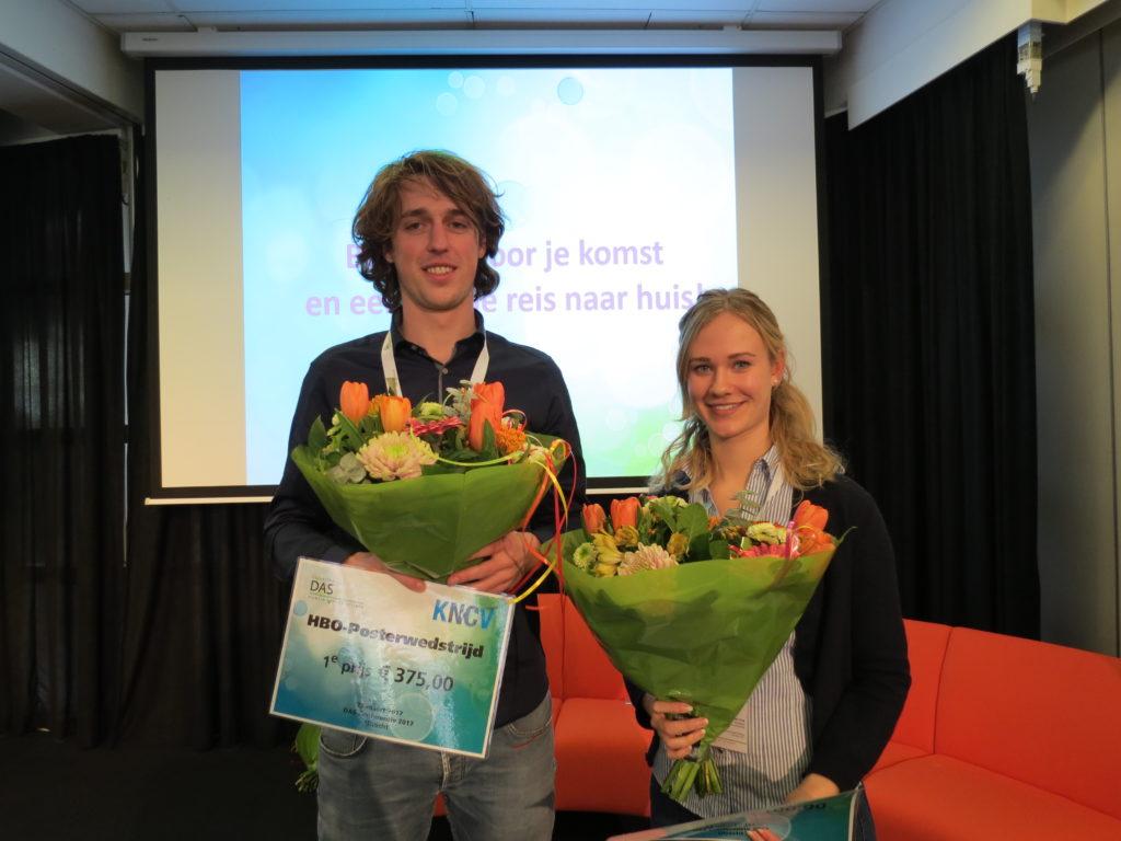 Kris Marcelissen en Mabel Vos, winnaars van de HBO-posterprijzen